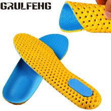 Damping Breathable Sweat-absorbent Running Insole Air Cushion Men's Shoes Women's Soles Orthopedic Memory Foam