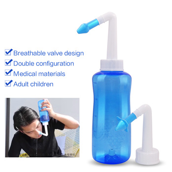 1 Set New Adults Children Blue Neti Pot Nasal Nose Wash Yoga Detox Sinus Allergies Relief Rinse 300ML /500ML Dropshipping 2