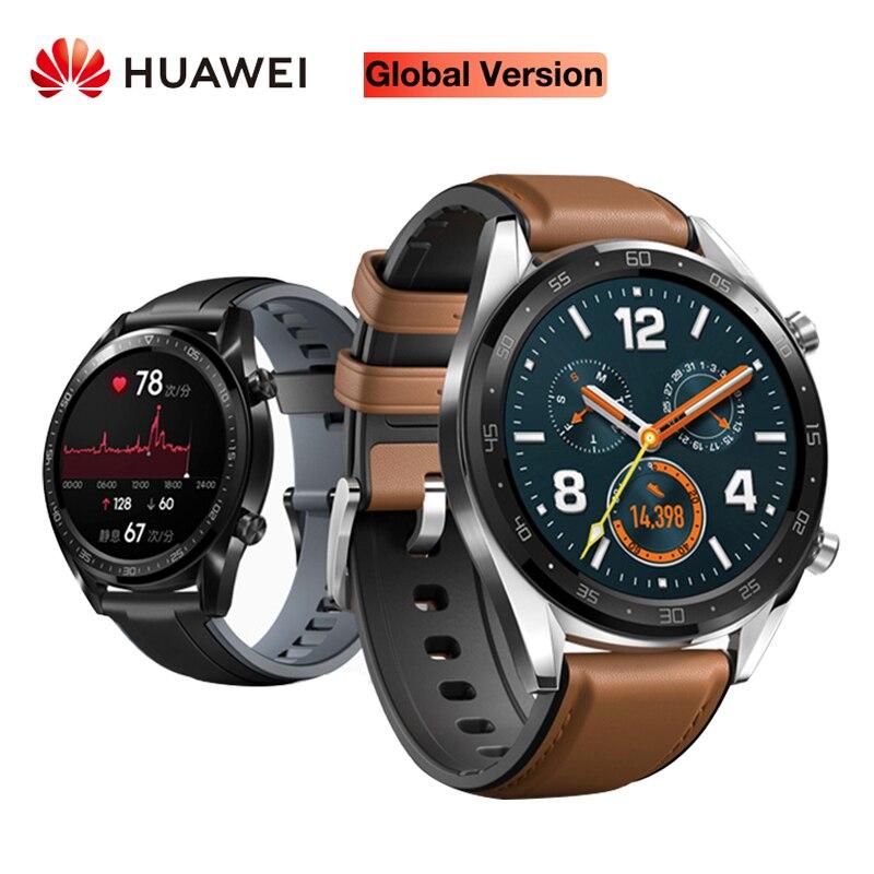 Huawei relógio gt versão global relógio inteligente à prova dwaterproof água freqüência cardíaca rastreador suporte nfc gps homem esporte rastreador relógio inteligente gt