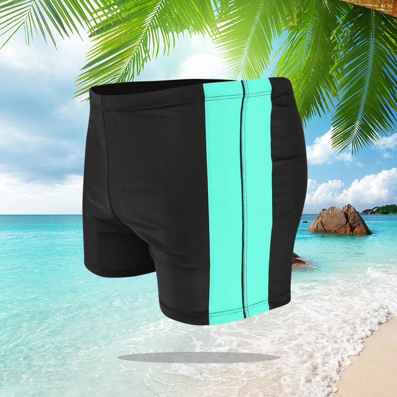 2018 New Style MEN'S Swimming Trunks Boxer-Style Mixed Colors Swimming Trunks Men's Swimming Trunks Hot Springs Monopoly MEN'S S