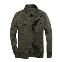 חדש Mens מעילי צבאי MA 1 סגנון צבא מעילי זכר מותג בגדי Mens מפציץ מעילי ג ינס בתוספת גודל M 6XL streetwear כותנה