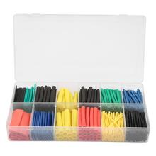 280pcs Wrap Wire Cable Insulated polyolefin Heat Shrink Tubing Shrinkable Tubes Assortment Wire Cable Sleeve Kit 12mm dia polyolefin heat shrinkable tube shrink tubing wire wrap 10m 33ft green