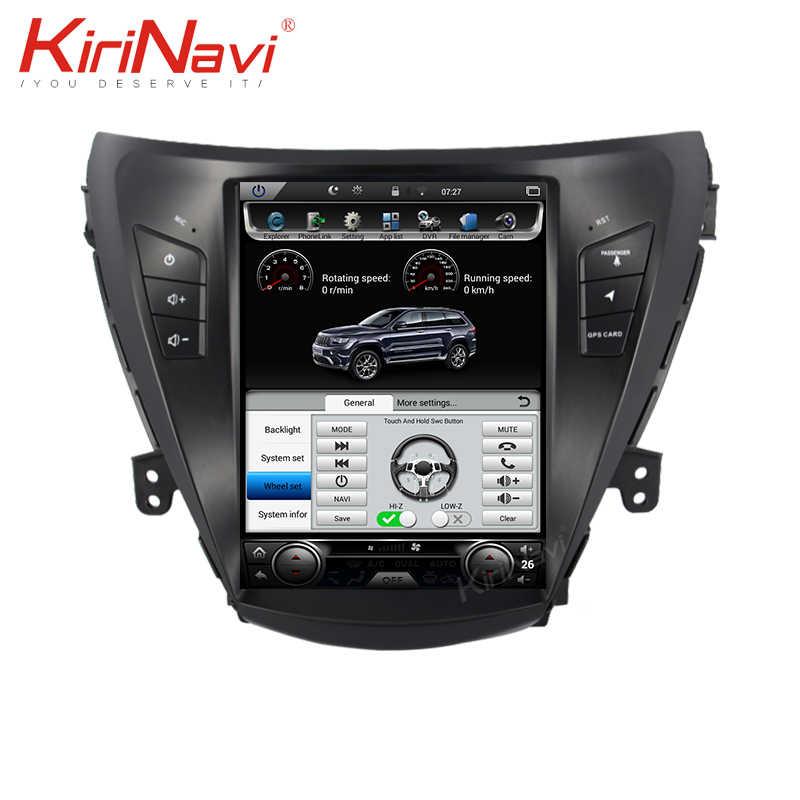 KiriNavi dikey ekran Tesla tarzı 10.4 ''Android 8.1 araç Dvd oynatıcı multimedya oynatıcı Hyundai Elantra radyo Automotivo 4G 2012 +