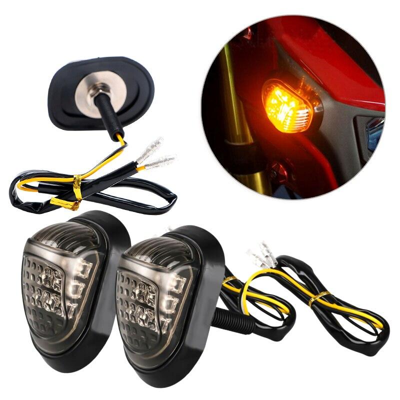 1 Pair Motorcycle 12V LED Turn Signals Light Shift Lights Blinker Indicator for Honda Grom MSX125 MSX 125 Turning Light