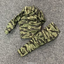 1/6 Scale Accessories Female Clothes Woodland Green Camo Soldier Uniforms set Fo