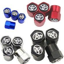 4 pçs tampa da válvula de pneu carro adesivo tampão de poeira do pneu para toyota corolla yaris chr auris avensis t25 acessórios do carro