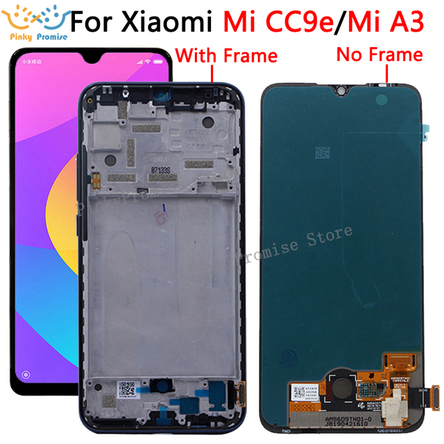 """Original Super AMOLED for Xiaomi Mi A3 lcd Display Touch Screen Digitizer Assembly Replacement Parts 6.01"""" For Xiaomi CC9e LCD"""