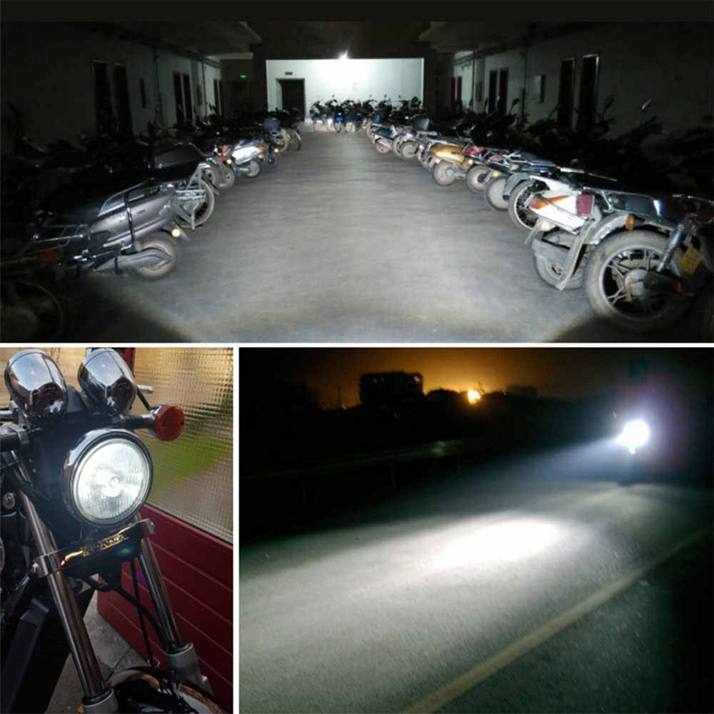 Auto H4 100W Motorcycle Car Modified Headlight Lamp White Light Bulbs Motorbike