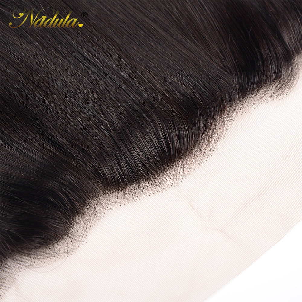 Nadula Hair 13x4 Lace Frontal Closure With Baby Hair  Straight Hair Frontal Pre Plucked ear to ear  100%  5