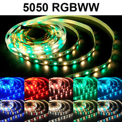 Bande Flexible de la lumière DC12V rvb/RGBPP/RGBWW de bande de LED étanche de 5M 10M 5050 lumière LED bande de couleur de 15M 2835 LED rvb aucun adapte