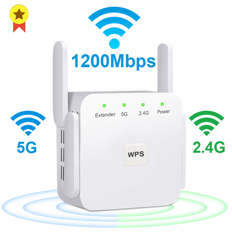 5G WiFi Repeater 1200Mbps Router Wifi Extender 2.4G Wireless Wifi Long Range Booster Wi-Fi Signal Amplifier 5ghz Wi Fi Repiter(China)