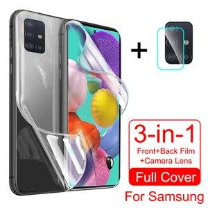 Hydrogel Film For Samsung Galaxy a50 a71 a51 a70 a10 a20 Note 20 Ultra s10 s20 s10e Plus a20e Screen Protector Camera lens Glass()