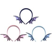 Женский обруч для волос на Хеллоуин эльф крылья летучей мыши