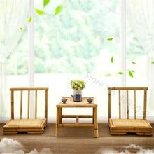 Mesa de centro de tatami Simple de la ventana de la Bahía mesa de centro de estilo japonés pequeña mesa de centro creativa de té y sillas mesa de madera sólida Zen
