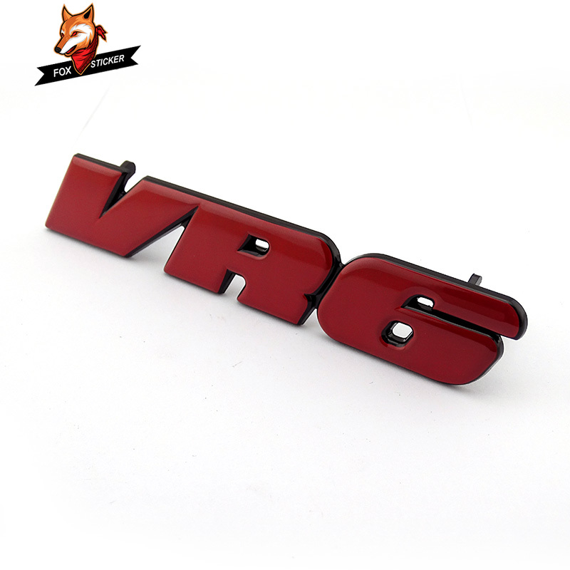 Red VR6 Car Front Grill Badge Emblem Sticker Golf3 Decal MK3 Grille Logo  for Passat|Car Stickers| |  - title=