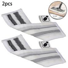 2 pçs/pçs/set almofadas de pano piso microfibra conjunto para karcher easyfix sc1 sc2 sc3 sc4 sc5 limpeza a vapor escova almofada pano substituir