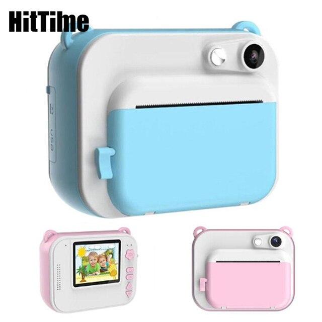 HitTime 2 Mini DIY بها بنفسك لحظة الحرارية طباعة كاميرا رقمية تلقائيا طباعة الصور 8MP التعليمية الأطفال كاميرا الاطفال اللعب