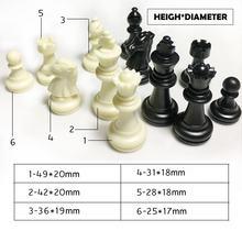 32 unids/set piezas de ajedrez de plástico juego de ajedrez de entretenimiento damas de ajedrez juegos tradicionales sin tablero de ajedrez
