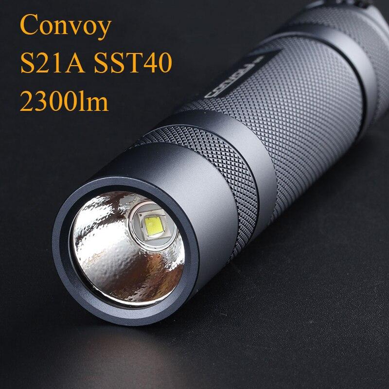 Convoy S21A Flashlight EDC Torch Flash Light SST40 2300lm Linterna LED 21700 18650 Flashlight Lantern Fishing Lamp Work Light