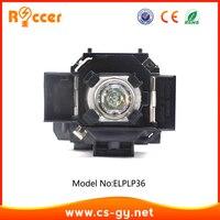 Roccer lâmpada do projetor de alta qualidade para elplp36/v13h010l36 para epson EMP-S4/EMP-S42/powerlite s4