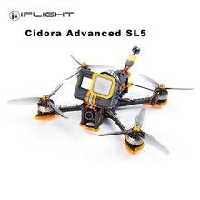 Iflight cidora sl5 fpv racing drone xing 2306 brushless motor f7 controlador de vôo com 50a 4 em 1 câmera caddx esc