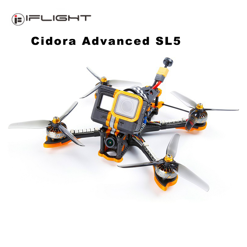 iFlight Cidora SL5 <font><b>FPV</b></font> Racing <font><b>Drone</b></font> XING 2306 <font><b>Brushless</b></font> Motor F7 Flight Controller with 50A 4 in 1 ESC CADDX Camera image
