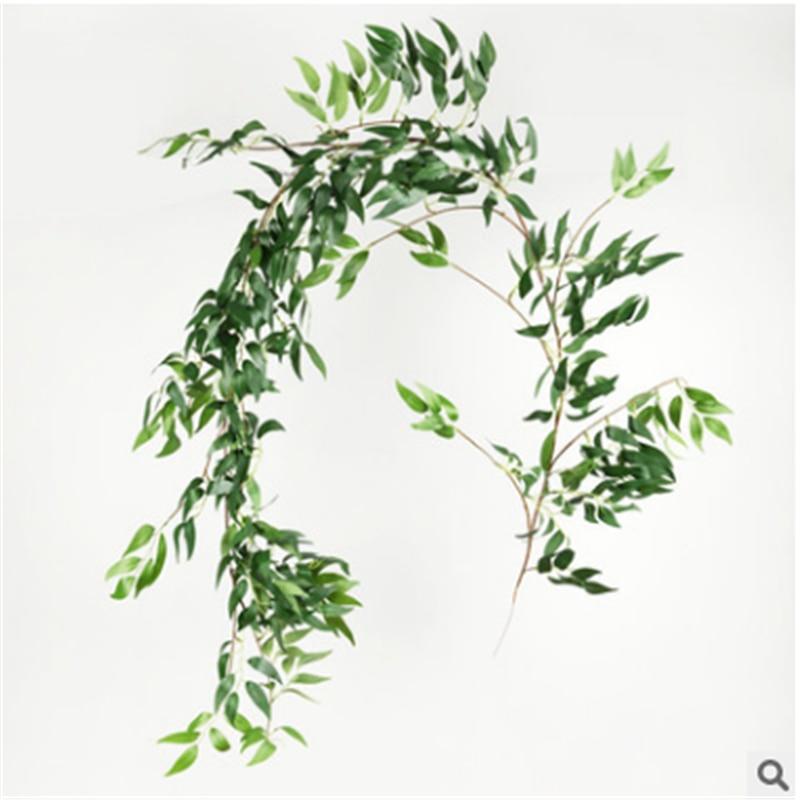 Лидер продаж, 2 м, Шелковый Искусственный эвкалипт, круглые листья, фотоальбом, цветы, домашний декор, искусственный цветок