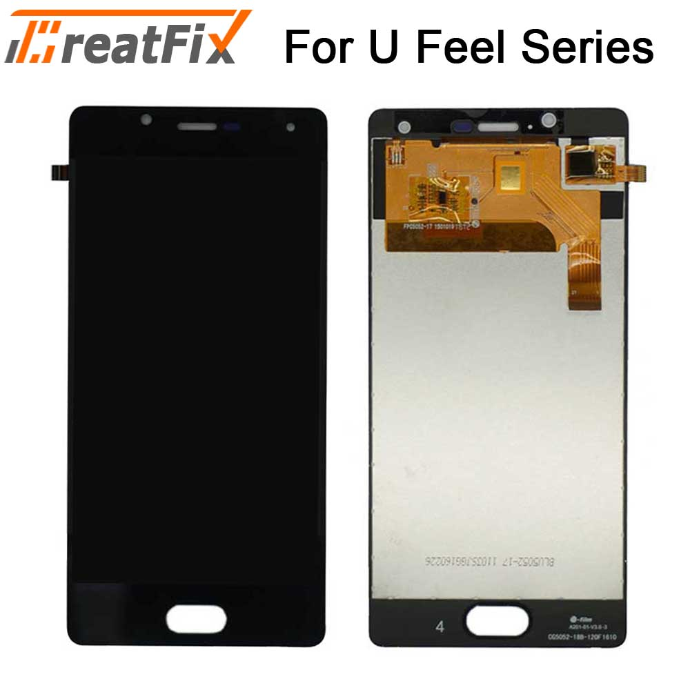Tested Touch Screen Digitizer LCD For Wiko U Feel Ufeel Lite LCD Display With Touch Screen Assembly lcd ufeel go u feel fab