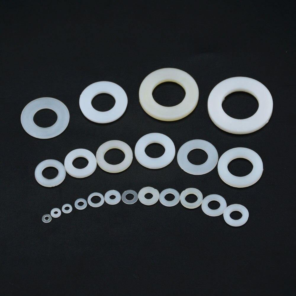 M16 m18 m20 anel de junta de avião, arruela plana de plástico, branco, nylon, espaçador para isolamento, para parafuso, junta de isolamento, 10 peças