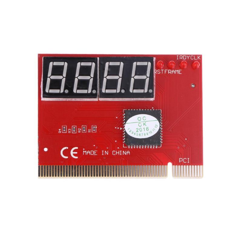 PC 4-digit Code Mainboard Motherboard Diagnostic Analyzer Tester PCI Card With 8 LEDs Indication