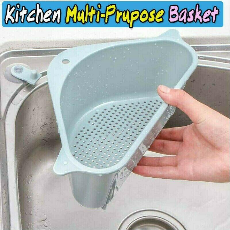 Kitchen Sink Triangle Storage Holder Sucker Sucker Washing Bowl Multifunctional Sponge Drain Shelf Storage Rack Kitchen Tools