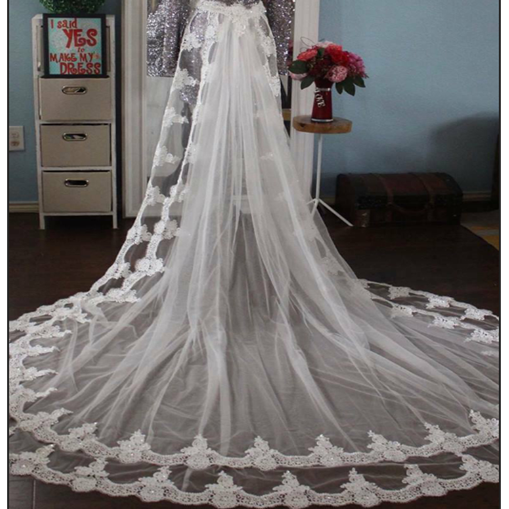 Woman Bridal Dress Embroidery Lace Detachable Train Removable Skirt For Wedding Dresses