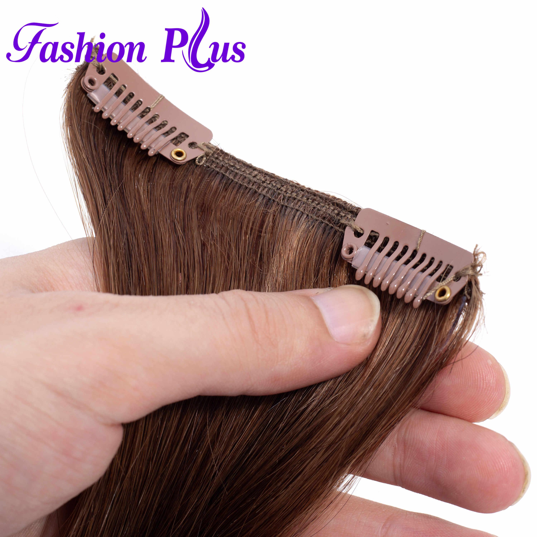 רמי שיער טבעי קליפ ברחבות 18-20 סנטימטרים מכונת תוצרת ברזילאית ישר שיער קליפ תוספות תוספות 7 יחידות\סט 120G