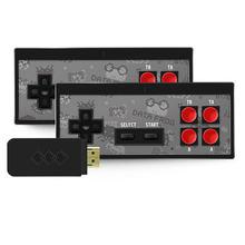 Usb mini duplo sem fio console de jogo, hdmi tv game console, 8 bits, embutido 750 jogos, para presentes das crianças