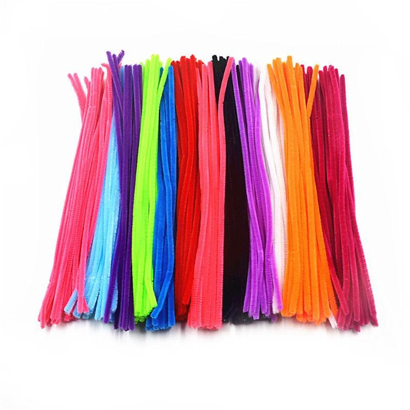 200pcs Handmade DIY Educational Toys Soft Felt Strip Rod Braiding Wire Children Sticks Colorful Twist Rod Craft Toys
