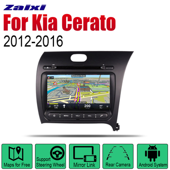 ZaiXi Android 2 Din Auto Radio DVD For Kia Cerato Forte K3 2012~2016 RHD Car Multimedia Player GPS Navigation System Radio