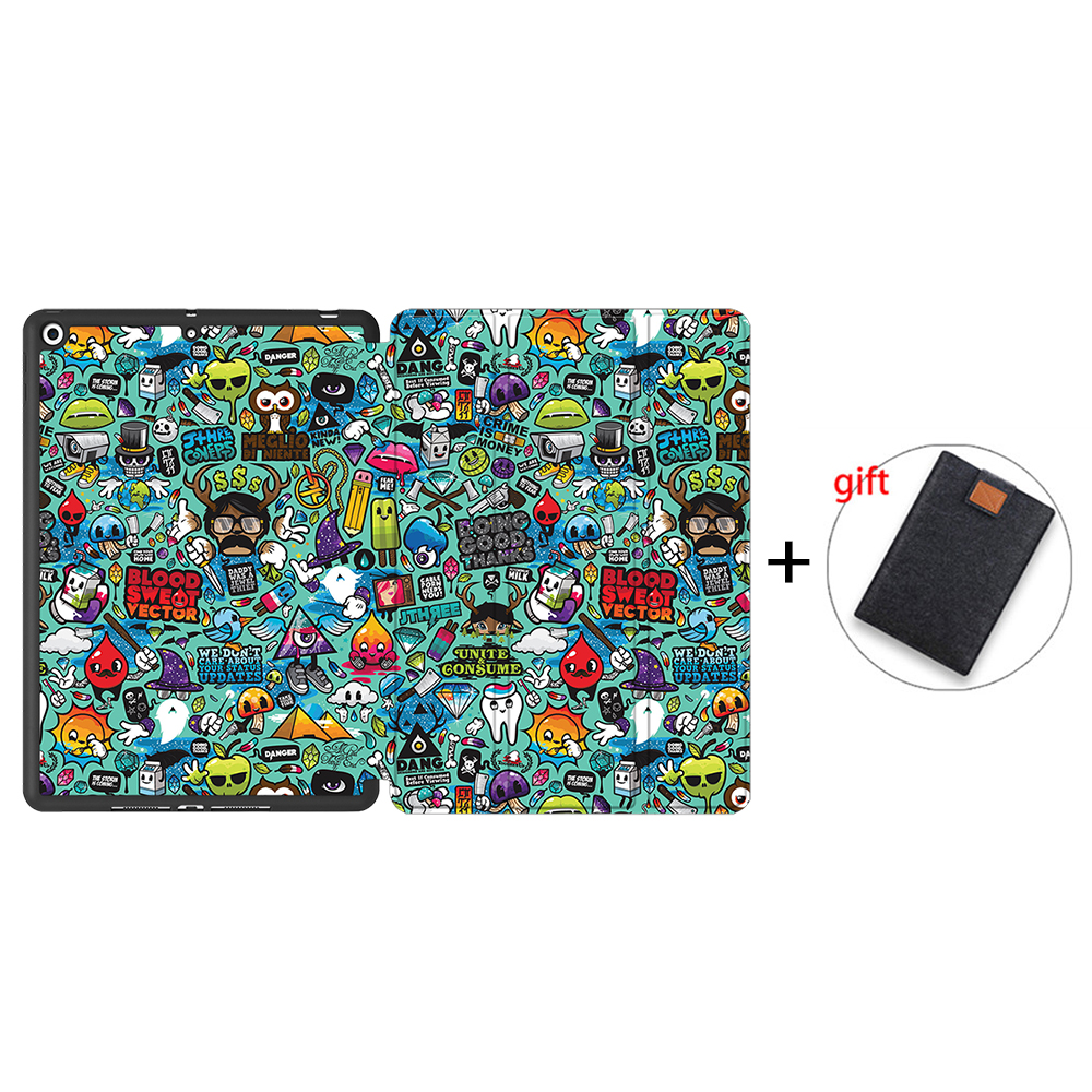 IPBC09 Beige MTT Tablet Case For iPad 10 2 inch 7th 8th Generation 2020 Soft TPU PU Leather