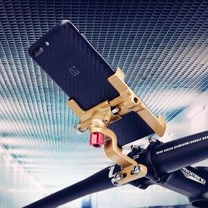 Image 5 - לארווין אלומיניום סגסוגת אופנוע אופניים אחורית טלפון מחזיק עבור iPhone X 8P אוניברסלי אופני כידון Stand Sansung S8 S9 הר