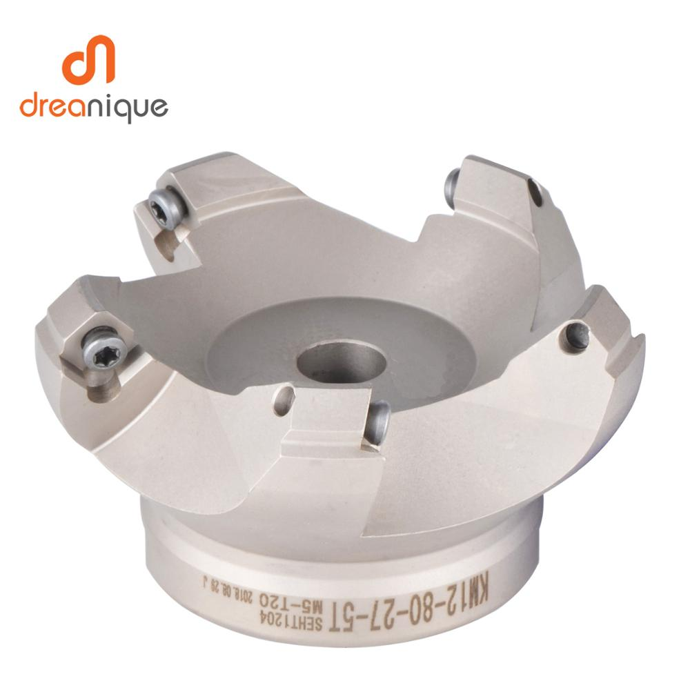 Slab Face Milling Cutter KM12 50mm 63mm 80mm 100mm cnc milling tools for inserts SEKT1204 and SEHT1204 Free shipping
