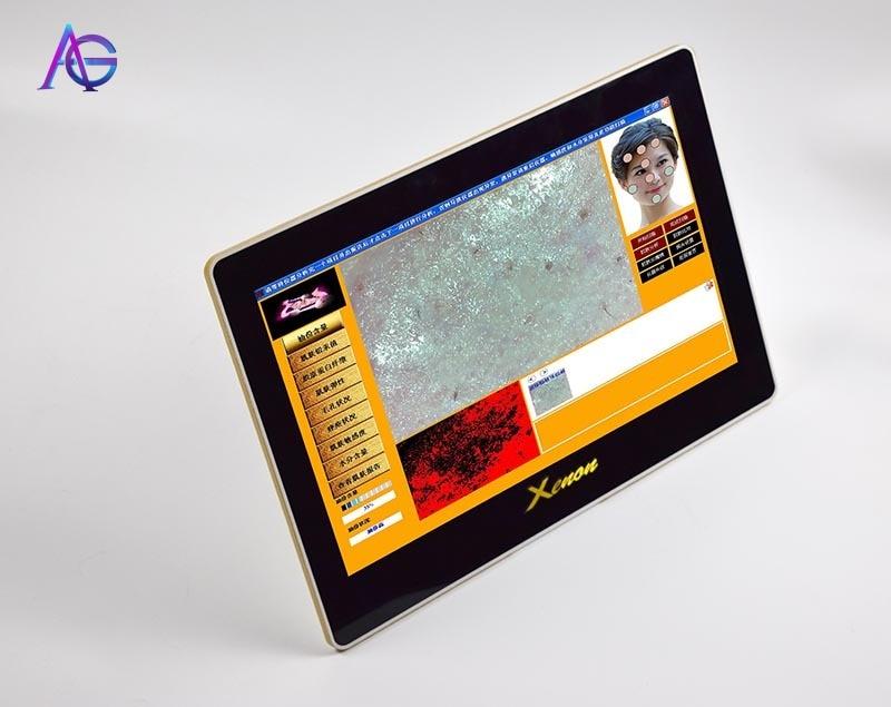 Professional Intelligent Portable Skin Analyzer Machine Test Lead Mercury Collagen Facial Pigmentation For Salon