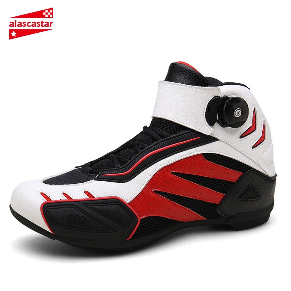Neue Motorrad Stiefel Männer Atmungs Botas Moto Stiefel Hombre Motorrad Schuhe Motorrad Biker Reiten Stiefel Touring Ankle Schuhe