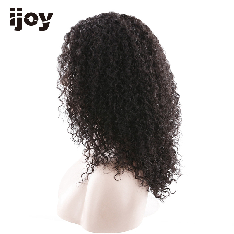 Afro Human Hair Wig 18 inches 110g Natural Color 100% Human Hair Lace Frontal Wig Remy Hair Free Shipping IJOY - 5