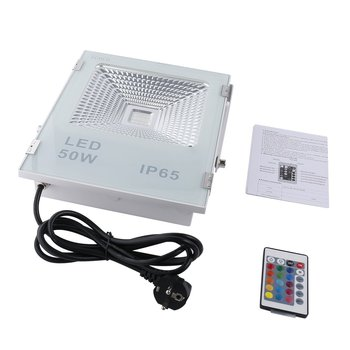 ICOCO Outdoor RGB LED Floodlight Remote Control 16 Colors 4 Modes Switchable Waterproof for Roads Garden Bridges Billboard