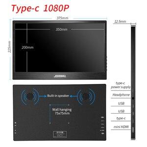 "Image 2 - المحمولة رصد 15.6 ""HDMI شاشات مراقبة تعمل باللمس شاشة الكريستال السائل نوع C 1080P IPS ل التوت فطيرة الكمبيوتر PS4 المحمول الهاتف Xbox التبديل"
