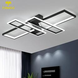 3 Colors Changeable Dimmable Square Rings Ceiling Lights For Living Room Bedroom Home Modern Led Ceiling Lamp Fixtures