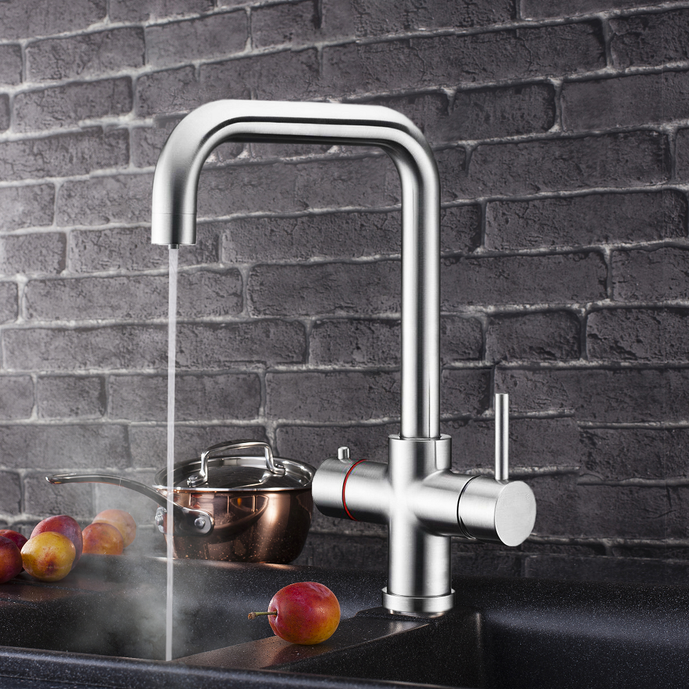 Electric Heater Instant Boiling Water Tap Faucet Mixer 2.4 Litre Boiler & Anti Scale Filter