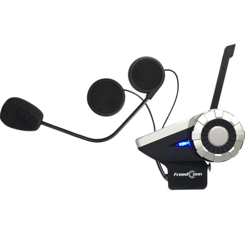 Freedconn Motorcycle Helmet Bluetooth Walkie-Talkie, T-Rex Full-Duplex Intercom Bluetooth System For 8 Riders / Range 1500M / Mp