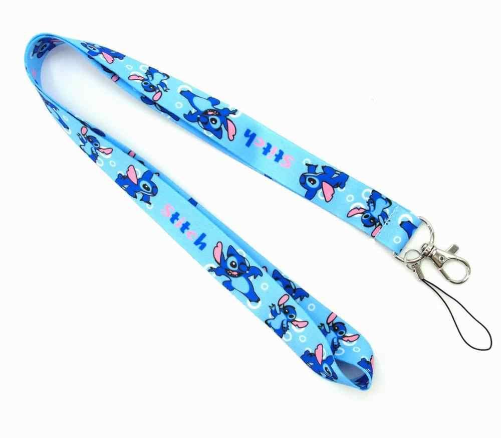 Nieuwe Collectie 1 Stuk Top Kwaliteit Universele Badge Houder Strap Mobiele Telefoon Strap Leuke Cartoon Stitch Keycord Sleutel Riem
