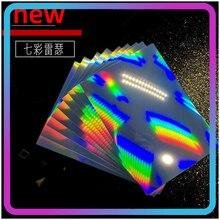 10PCS A4 Size Holographic Sheets Printable Vinyl Sticker Paper Waterproof Sticker Paper Vinyl Rainbow Sticker Paper for Inkjet