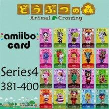 Пересечение животных подлинных данных новые горизонты игры Марио карты для NS переключатель 3DS игра набор NFC карт Ряд1 381-400 матовый материал